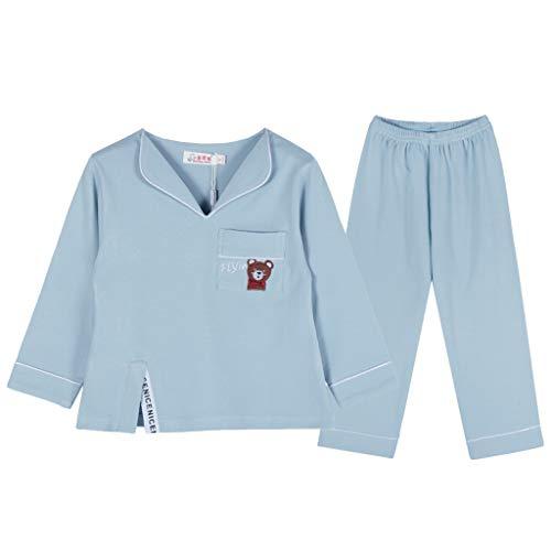 Pijamas para niñas Primavera y otoño Traje de algodón Servicio de asistencia domiciliaria infantil de manga larga Pijamas...