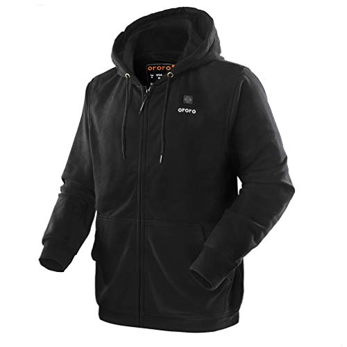 ORORO Heated Hoodie with Battery Pack (X-Large,Black)