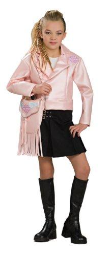 Harley Davidson Pink Jacket Kids Costume (Biker Girl Halloween Costume For Kids)