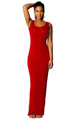 Las mujeres de 13 colores 4 yardas chaleco vestido de la manera vestido elegante y confortable Red