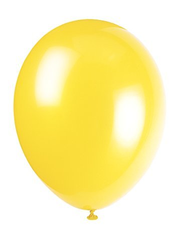 12 Latex Canary Yellow Balloons by Unique Party by UNIQUE PARTY