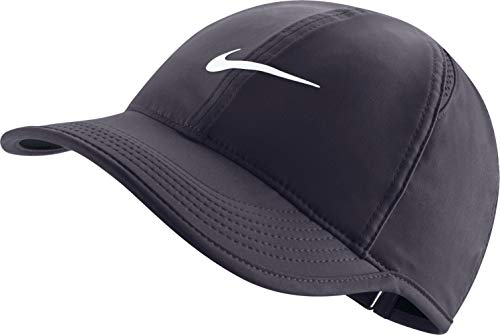(Nike Women's Adjustable Featherlight Hat (Gridiron/Black/Gridiron/White))