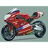 LB DIY Oil Painting for Adults Kids Paint By Number Kit Digital Oil Painting Motorcycle 16X20 Inches