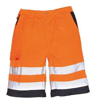 E043YGYL - Clothing Size : L - Hi-Vis Polycotton Shorts, Portwest - Each