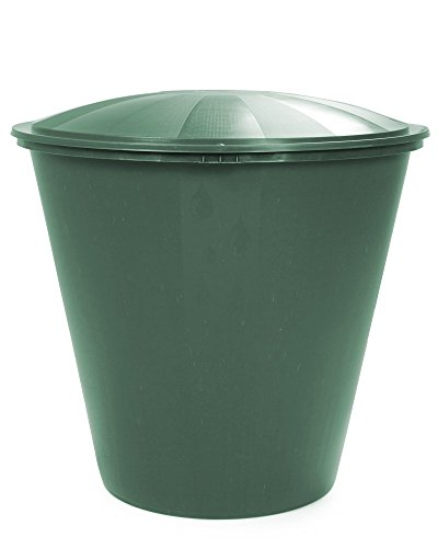 Wassertank Fass Aqua Regentonne mit Deckel Ecotank grün 210 Liter