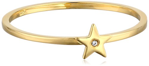 Syd by SE Star Ring with Burnished Diamond (Burnished Band Diamond)