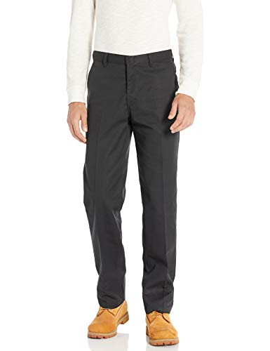 Dickies Men's Flat Front Pant, Black, 30X34 (Black Men Pants)