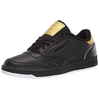 Reebok Men's Club MEMT Sneaker, Black/White/Gold Metallic, 5.5