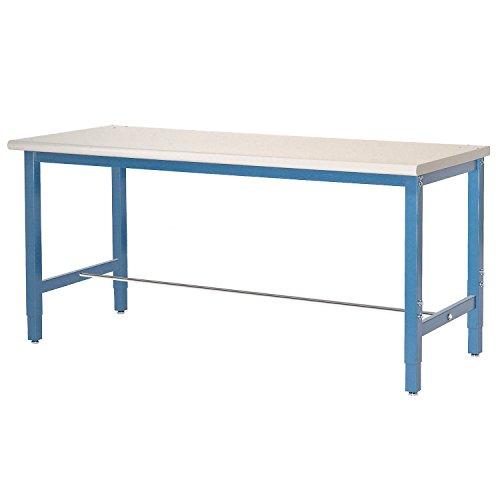 Plastic Laminate Safety Edge - Production Workbench - Plastic Laminate Safety Edge - Blue, 48
