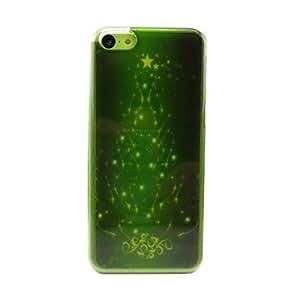 contraportada hermoso árbol de navidad de plástico duro para el iphone 5c