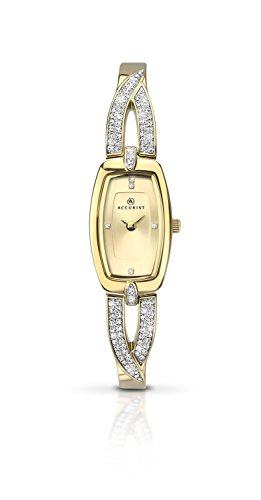 Accurist Women's Quartz Watch with Gold Dial Analogue Display and Gold Bracelet 8032.01