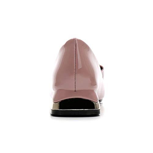 Talons Cm 2 Talon Bureau Bas Femmes Mesdames Chaussures Pompes Épais Jrenok Élégant Rose 5 wC7Rnqx5