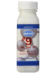 Hylands Natrum Mur 6X Cell Salt Tablet - 500 per pack - 3 packs per case.