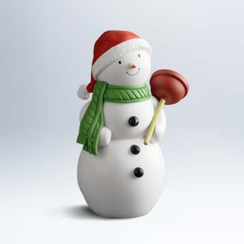 Hallmark Jolly in the John singing and talking (Talking Snowman)