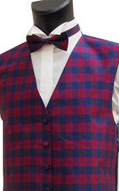 Lindsay Tartan Silk Shantung Waistcoat Mens & Boys Sizes ()