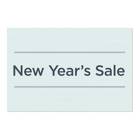 27x18 Basic Teal Window Cling 5-Pack CGSignLab New Years Sale