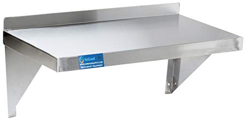 Stainless Commercial Steel Shelf Wall (AmGood 18