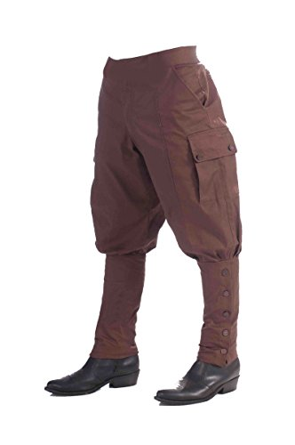 [68892 Forum Steampunk Pants] (Adult Brown Steampunk Costumes Pants)