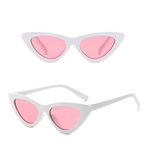 soleil de polarisées KINDOYO soleil rétro Cadre Lunettes Rose Oeil UV de soleil soleil lunettes Lentille non lunettes de Blanc de chat de Femmes lunettes qq7x4wrT
