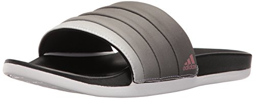 adidas Women's Adilette Cf+ Armad Athletic Slide Sandals, Black/Tech Rust White, (8 M US)