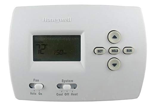Honeywell TH4110D1007 Programmable Thermostat 20 - 30 Volt Heat Current 0.02 - 1.0 Amp Running Cool Current 0.02 - 1.0 Amp Running White
