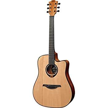 lag guitars tramontane t80dce dreadnought cutaway acoustic electric guitar natural. Black Bedroom Furniture Sets. Home Design Ideas