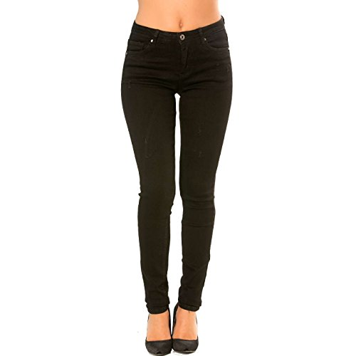 Slim Miss Noir Jeans Pantalon Line Wear ZUwUqIp