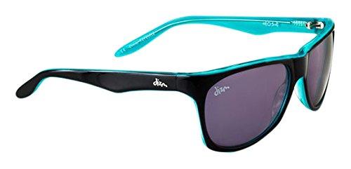 Dizm Eco Eyewear Johnnyjohns+ Smoke Sunglass, Black/Turquoise, One - Sunglasses Dizm