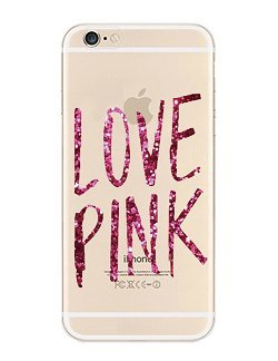 iPhone 6 Case, DECO FAIRY® Protective Case Bumper[Scratch-Resistant] [Perfect Fit] Ultra Slim Translucent Silicone Clear Case Gel Cover for Apple iPhone 6 (love pink clear)