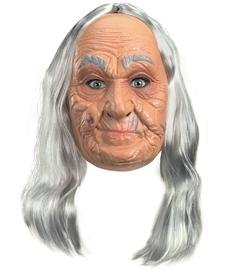 Old Lady Costume: Vinyl Mask - Adult's One Size Fits (Old Lady Mask Costumes)