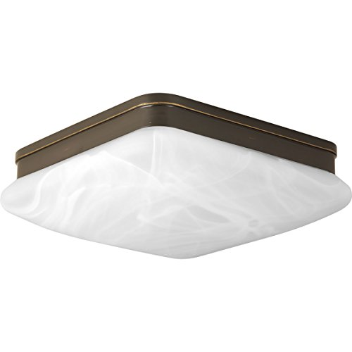 (Progress Lighting P3551-20 2 LT Flush Mount Fixtures with Alabaster Glass, 11