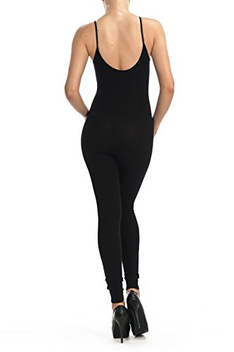 Jjj Women Catsuit Cotton Lycra Tank Spaghetti Strapped Yoga Bodysuit Jumpsuit S Plus