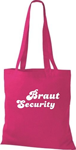 shirtstown Borsa di stoffa JGA Sposa security VARI COLORI - rosa, 42 cm x 38 cm