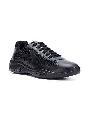 Noir Prada Cuir Baskets 4E33046GWF0002 Homme x67q6Xz