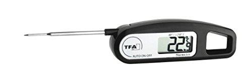 inkl Batterie TFA THERMO JACK Digital Thermometer Anzeige schwarz 30104701