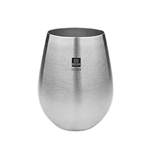 Beer Mug, SUS304 Stainless Steel Beverage Cup, 18.0 OZ Unbreakable Household Readily Cup from opdamyi