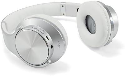 Conceptronic CHSPBTNFCSPKS - Auriculares (Inalámbrico y alámbrico, Diadema, Binaural, Supraaural, 90-18000 Hz, Plata, Blanco)