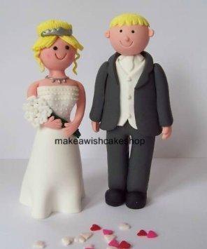 Hochzeitstortenfigur Blonde Braut Und Brautigam Blond Nonedible