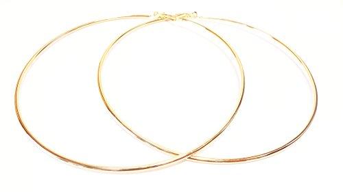 Large Hoop Earrings 4 Inch Hoop Earrings Gold Tone Hoop Earrings Simple Thin - 4 Inch Gold Hoops