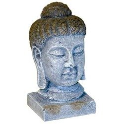 Blue Ribbon Pet Products Resin Aquarium Ornament - Oriental Buddha Head Large 5.75 Inch