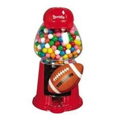 Sports Fan Gumball Machine Football Theme CYBER MONDAY SALE!