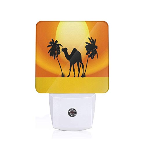 Night Light Clipart - Camel Sunset Plug-in Warm White LED Nightlight with Auto Dusk to Dawn Sensor, Perfect for Kids Room, Hallway, Bedroom, Kitchen, Bathroom]()