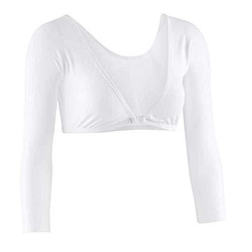 Sleevey Wonders Women's Basic 3/4 Length Slip-on Jersey Sleeves 1X White