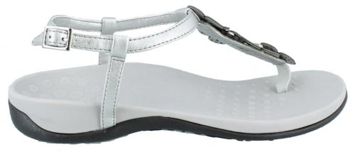 Vionic with Orthaheel Technology Womens Julie II Sandal Pewter Size 8