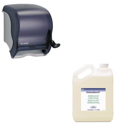 - KITBWK430CTSJMT950TBK - Value Kit - Dermabrand Antibacterial Liquid Soap (BWK430CT) and San Jamar Element Lever Roll Towel Dispenser (SJMT950TBK)