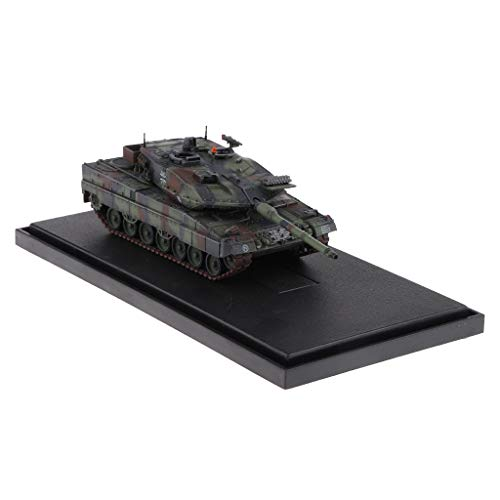 Flameer 1:72 Scale German Leopard 2A6 Main Battle Tank - Army Armored Vehicle Model Soldier Toy Gifts Camouflage ()
