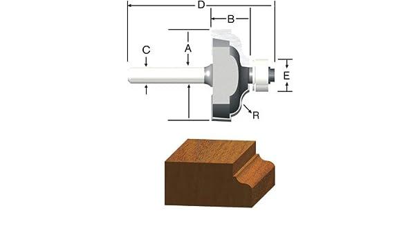 Bosch 85271MC 1//4 In Roman Ogee Router Bit