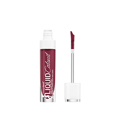 (wet n wild Megalast Liquid Catsuit High Shine Lipstick, Wine Is The Answer, 0.2 Ounce)