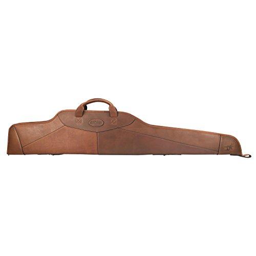 TOURBON Vintage Genuine Leather Scoped Rifle Case 50