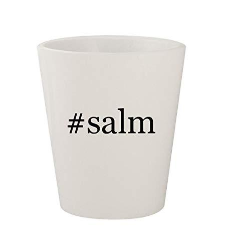 #salm - Ceramic White Hashtag 1.5oz Shot Glass